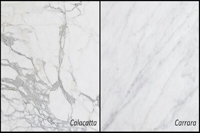 CalacattaVsCarraraM - Custom Marble Design & Fabrication in Milwaukee