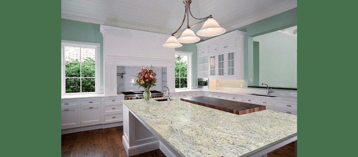 White Ice Granite Cabinets Countertops Milwaukee