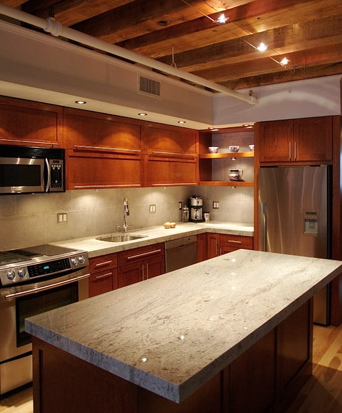 modern kitchen - BIANCO ROMANO GRANITE