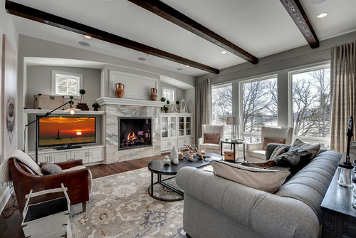 traditional living room 1 - DOLCE DE VITA MARBLE