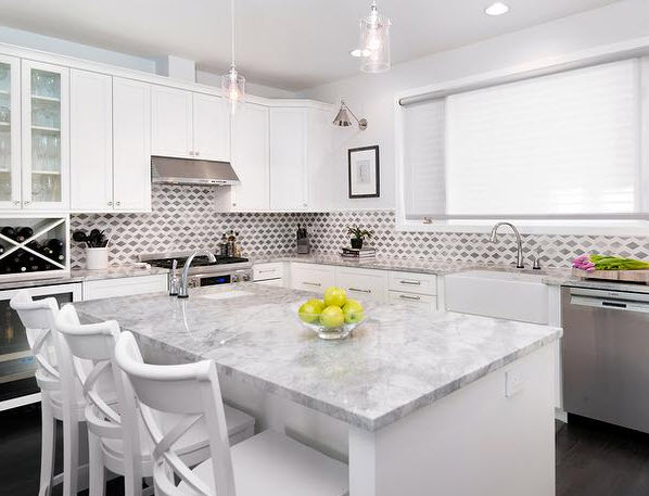 Super White Marble Kitchen - Countertop Sales & Discounts Milwaukee Wisconsin
