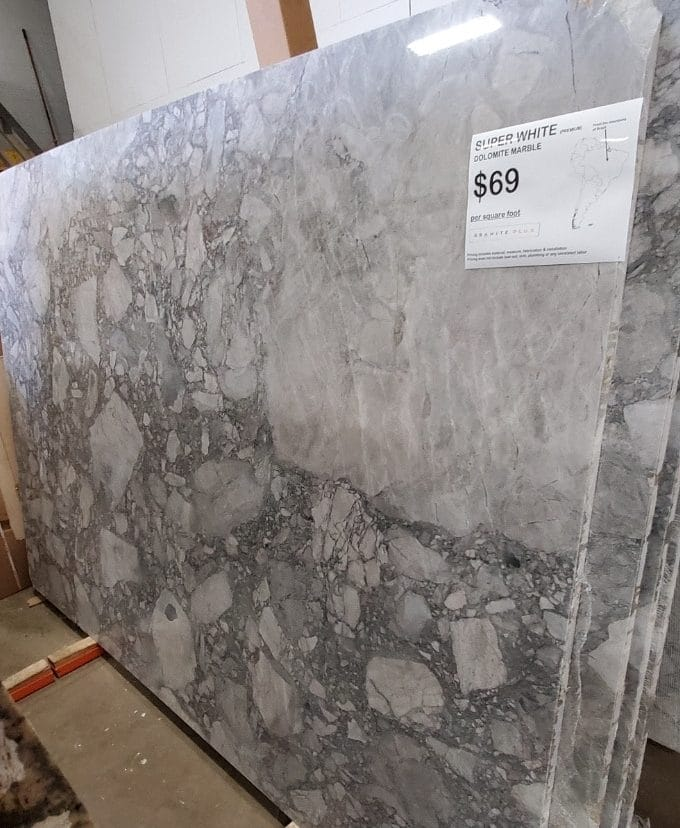 Super White Marble on Sale Milwaukee Wisconsin e1570115689230 - Countertop Sales & Discounts Milwaukee Wisconsin