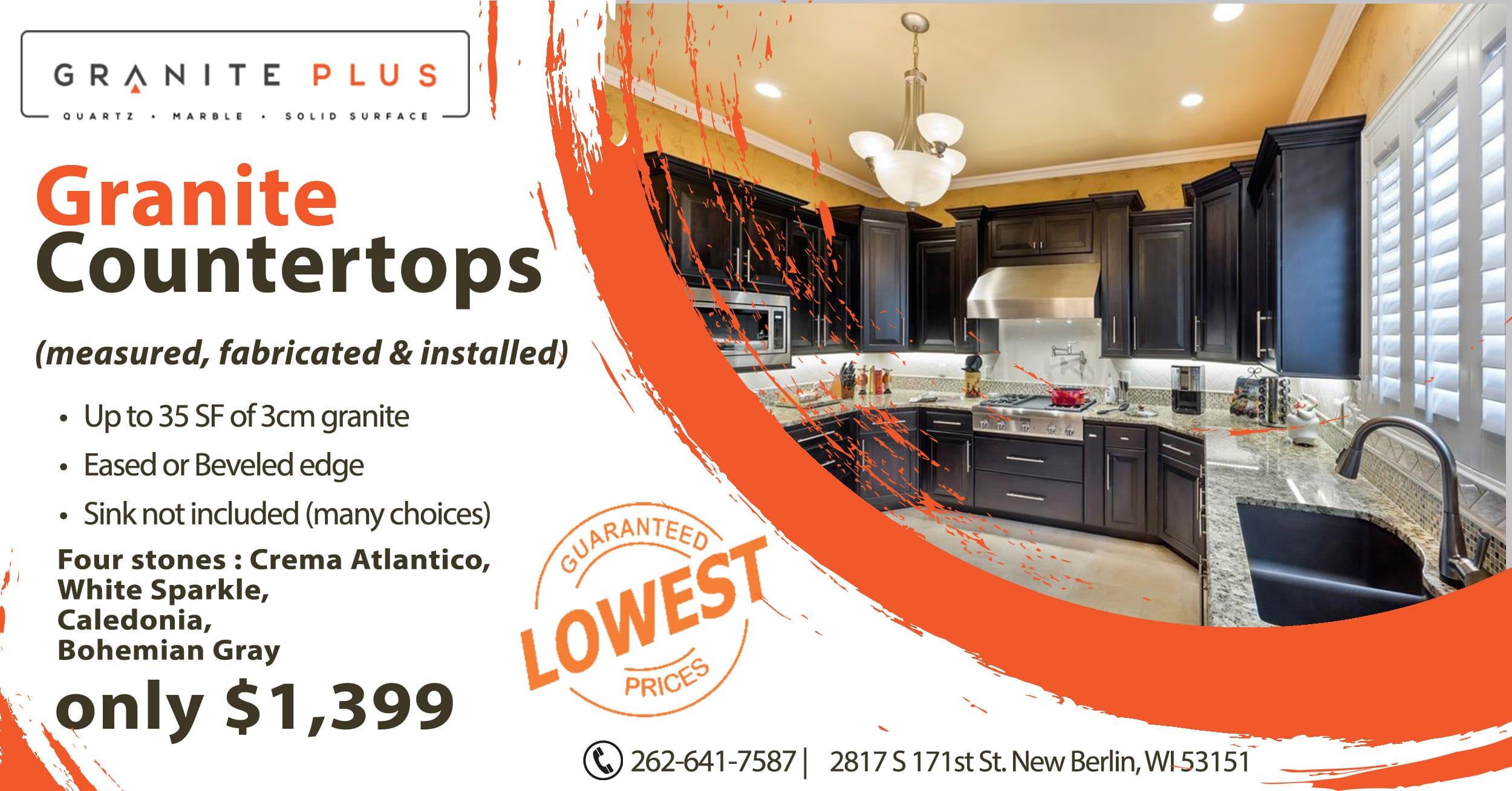 Granite Plus Granite Countertops 1399 - Countertop Sales & Discounts Milwaukee Wisconsin