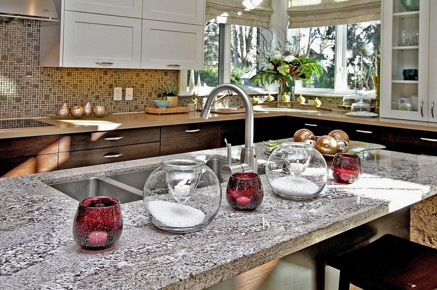 holiday kitchen countertops decorating